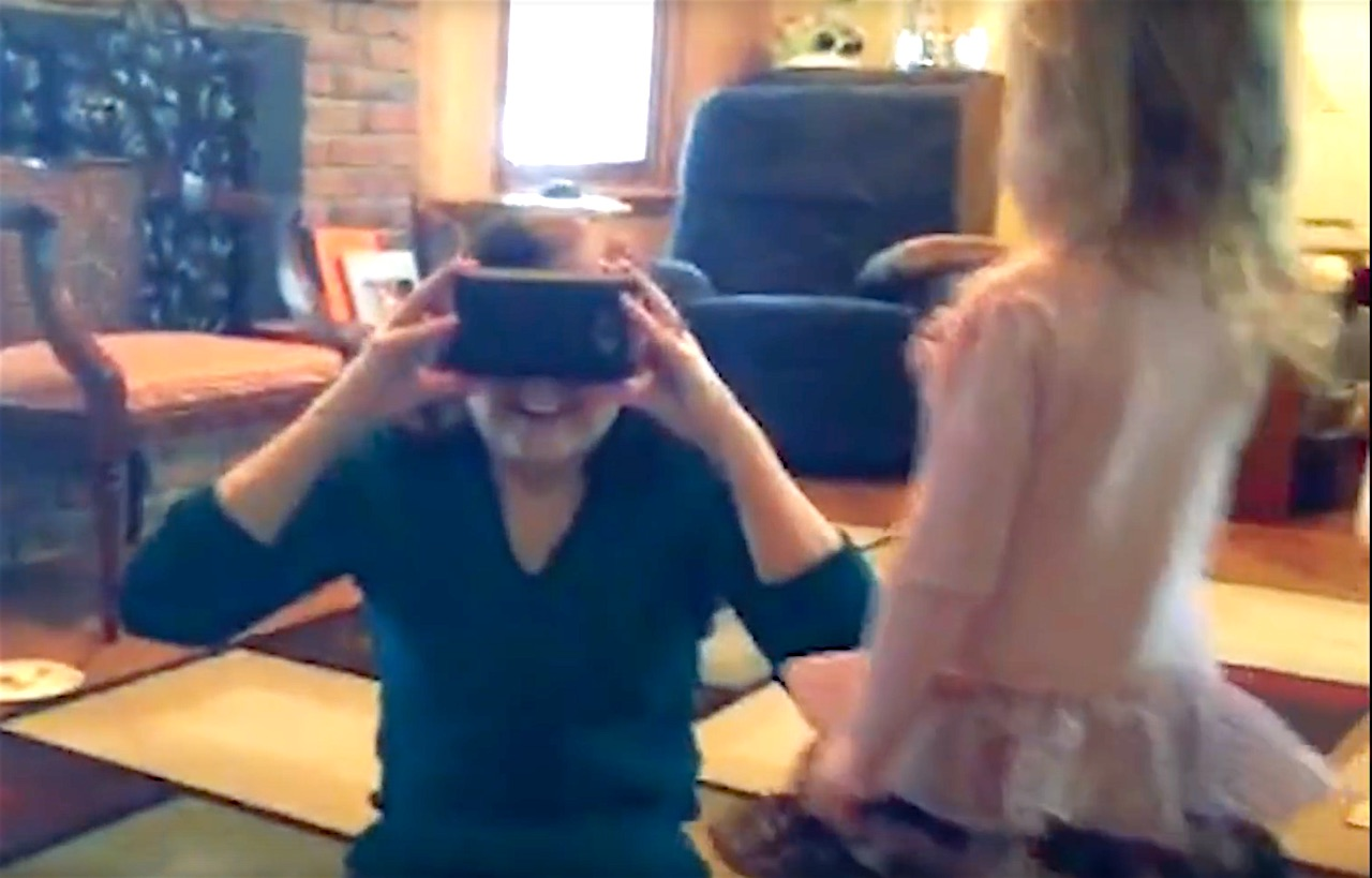 Google Cardboard Helps A Blind Women To See - 1