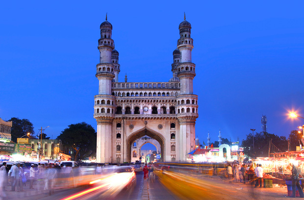 HYDERABAD,INDIA -AUGUST 29: Charminar in Hyderabad on August 2