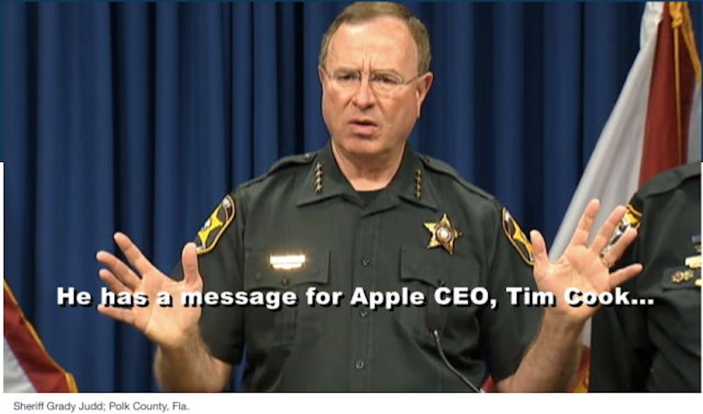 Sheriff Grady Judd Famous Quotes: Tim Cook Will Be Put Behind Bar If Request To Unlock