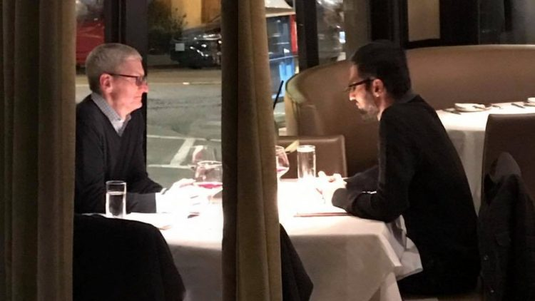 Cook and Pichai Spotted Having A Dinner Meeting In Private
